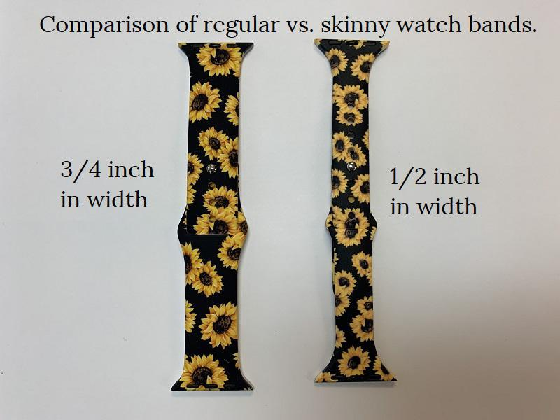 Skinny Silicone Watch Band