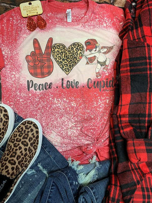 Bleached Peace Love Cupid Tee