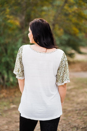 White Knit Top by Kori America
