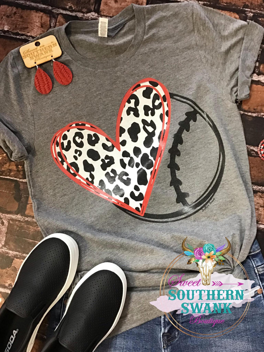 Heart Baseball/Softball Tee
