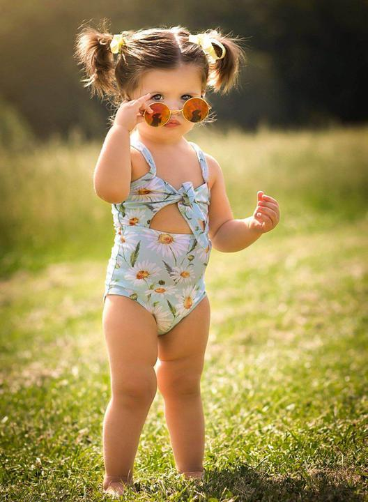 Bailey's Blossoms Retro Knot Swimsuit