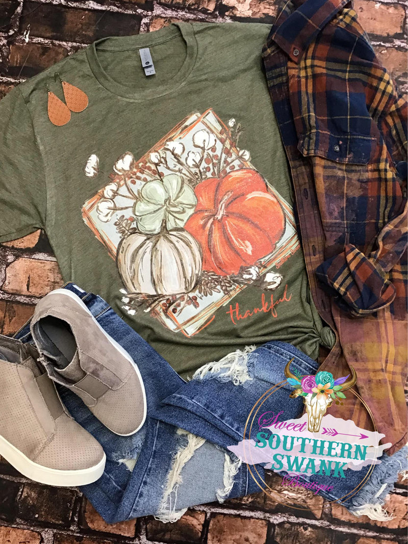 Thankful Cotton Pumpkin Tee