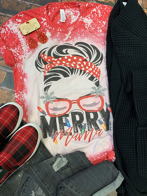 Merry Mama Bleached Tee
