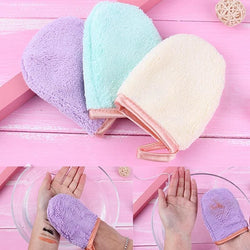 2 PC Reusable Microfiber Makeup Remover Mitts - affordable Cheap Clothes Quality styles