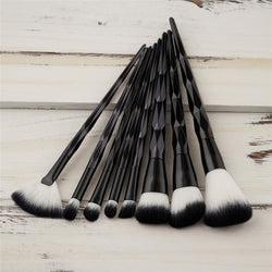8PC Black Diamond Makeup Brushes - affordable Brushes Cheap Clothes Quality