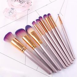 9 PC Lilac Pearl Makeup Brushes - affordable Brushes Cheap Clothes Quality