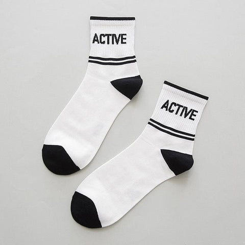 ACTIVE Crew Cut Socks - affordable Cheap Clothes Quality styles