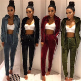 Adorea Velvet Tracksuits - affordable Cheap Clothes Hoodies Quality