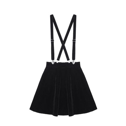 Aiden Overall Skirt - affordable Cheap Clothes Quality styles - Black / M