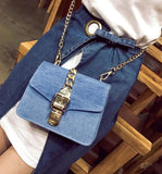 Aliyah Denim Chain Crossbody Bags - affordable Cheap Clothes Quality styles