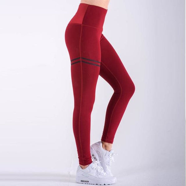Alma High Waist Leggings - affordable Cheap Clothes Leggings Quality - Red / L