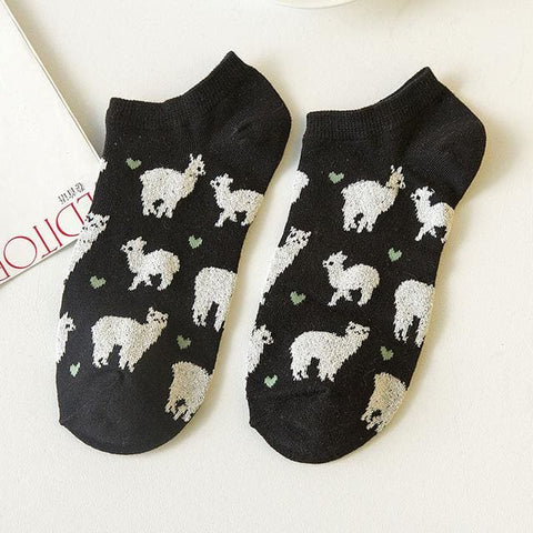 Alpaca Socks - affordable Cheap Clothes Quality styles - Black / One Size