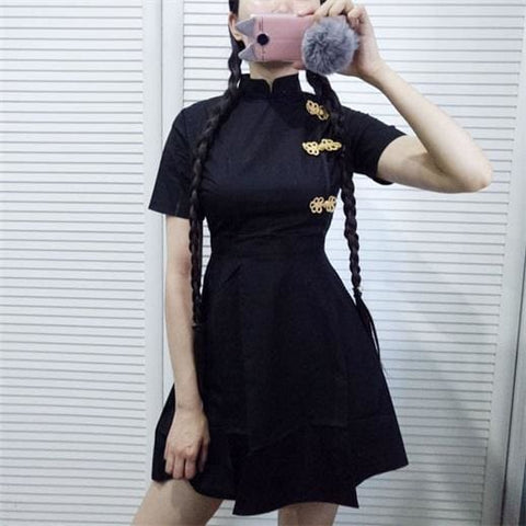 Amelia Doll Dress - affordable Cheap Clothes Quality styles - Black / One Size