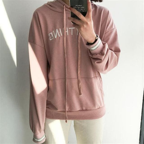 Anything Hoodies - affordable Cheap Clothes Quality styles - Pink / One Size