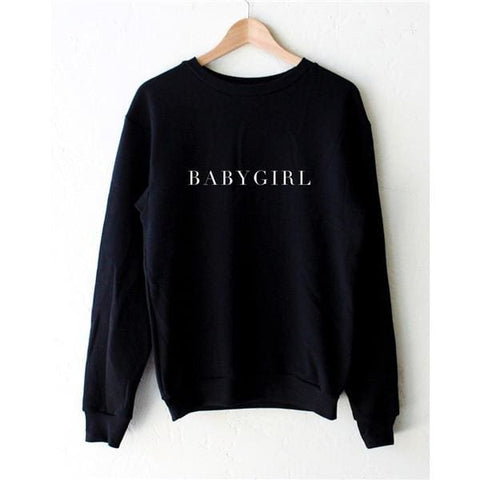 BABY GIRL Sweaters - affordable Cheap Clothes Longsleeves Quality - Black / L