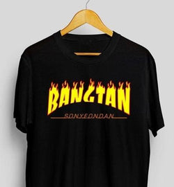 Bangtan Shirts - affordable BTS Cheap Clothes KPOP Shirts - black-BANZTAN / L