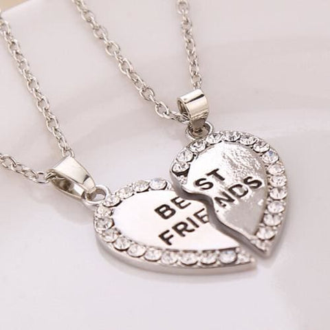 Best Friends Necklaces - affordable Cheap Clothes Quality styles - Silver Plated