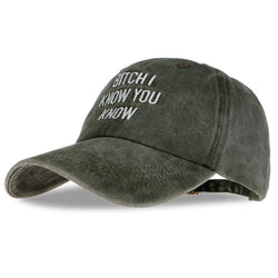 Bitch I Know You Know Hats - affordable Cheap Clothes Hats Quality