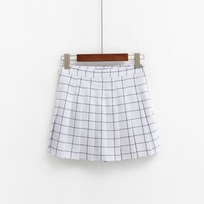 Blair High Waist Pleated Skirt - affordable Cheap Clothes Quality styles - white / S
