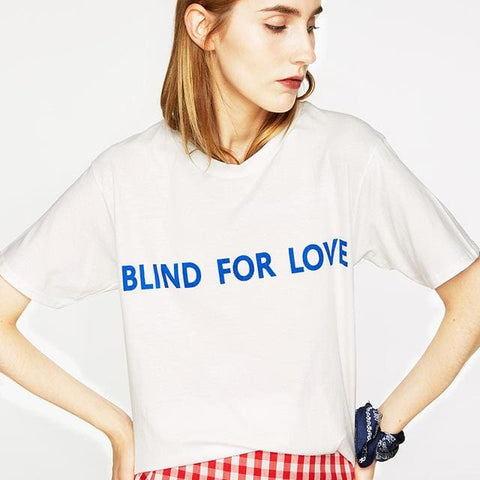 BLIND FOR LOVE SHIRTS - affordable Cheap Clothes Quality styles - White / XS