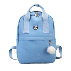 Blue Neko Canvas Backpacks - affordable Cheap Clothes Quality styles