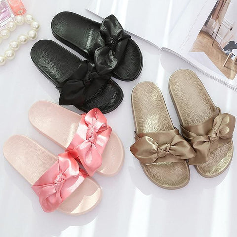 Bow Slides - affordable Cheap Clothes Quality styles