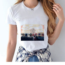 BTS Autumn Shirts - affordable BTS Cheap Clothes KPOP Shirts - White / S