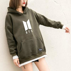 BTS Hoodies - affordable BTS Cheap Clothes Quality - Army Green / M