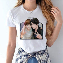 BTS JIKOOK Shirts - affordable BTS Cheap Clothes KPOP Shirts - White / S