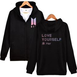 BTS Love Yourself Hoodies - affordable BTS Cheap Clothes KPOP Sweaters