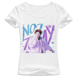 BTS Not Today Shirts - affordable BTS Cheap Clothes KPOP Shirts - White / S
