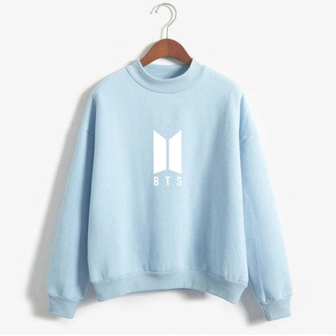 BTS Sweaters - affordable BTS Cheap Clothes Quality - blue / M