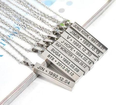 BTS Titanium Necklaces - affordable BTS Cheap Clothes Necklaces