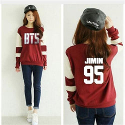 BTS Varsity Sweaters - affordable BTS Cheap Clothes KPOP Sweaters - JIMIN / M
