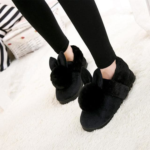 Bunny Slippers - affordable Cheap Clothes Quality styles - Black / 6