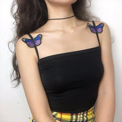 Butterfly Babe Crop Tops - affordable Cheap Clothes Quality styles