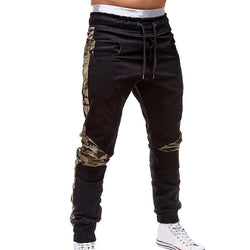 Camo Lined Black Joggers - affordable Cheap Clothes Quality Streetwear Bottoms
