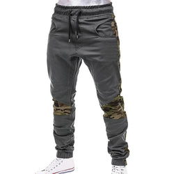 Camo Lined Grey Joggers - affordable Cheap Clothes Quality Streetwear Bottoms