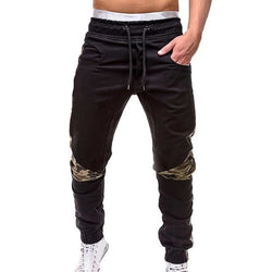 Camo Lined Khaki Joggers - affordable Cheap Clothes Quality Streetwear Bottoms