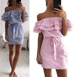 Cassie Ruffle Dress - affordable Cheap Clothes Dresses Quality