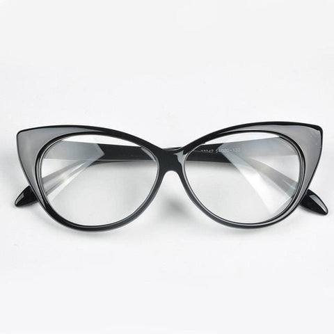Cat Eyes Glasses - affordable Cheap Clothes Quality styles - black