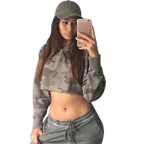 Dirty Camo Cropped Hoodies - affordable Cheap Clothes Quality styles