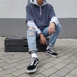 Distance Rose Striped Shirts - affordable Cheap Clothes Quality Streetwear Tops