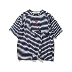 Distance Rose Striped Shirts - affordable Cheap Clothes Quality Streetwear Tops - Black / M