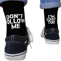 Dont Follow Me Im Lost Too Socks - affordable Cheap Clothes Quality styles