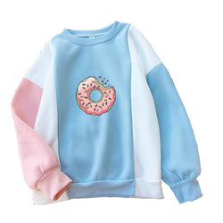 Donut Color Block Sweatshirts - affordable Cheap Clothes Quality styles