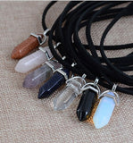 Double Layer Stone Pendant Choker - affordable Cheap Clothes Quality styles