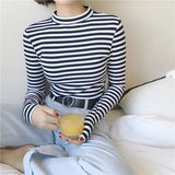 Ellie Striped Turtleneck Longsleeves - affordable Cheap Clothes Quality styles
