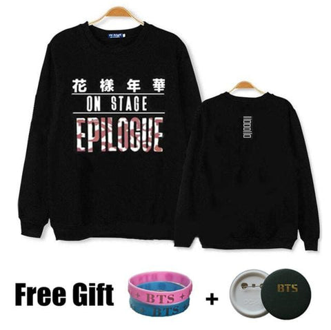 Epilogue BTS Sweaters - affordable Cheap Clothes KPOP Sweaters Quality - Team Black / S