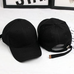 Extra Long Strap Hats - affordable Cheap Clothes KPOP Accessories Quality - Black